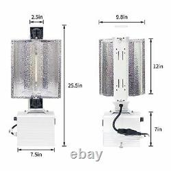 1000W Double Ended Grow Light Fixture System, 240V Digital Dimmable Ballast with1