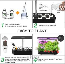 12 Pods Hydroponics Growing System, Indoor Garden Plant Kit with LED Grow Light