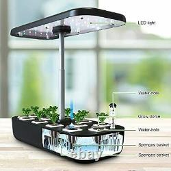 12 Pods Hydroponics Growing System Indoor Herb Garden Kit With Led Grow Light