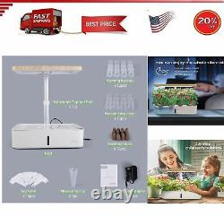 12 Pods Indoor Herb Garden Kit, Hydroponics Growing System With LED Grow Light