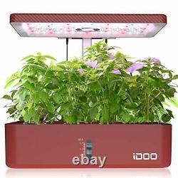 12 Pods Indoor Herb Garden Kit, Hydroponics Growing System With LED Grow Lights