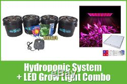 16 Site Hydroponic System LED Grow Light Combo Complete Grow Kit