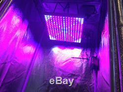 4 Site DWC Hydroponic System Grow Room Complete Grow Tent Kit LED Grow Light