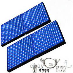 4x Grow Light Panel 56W 900 LEDs Blue + White for Green house, Hydroponic System