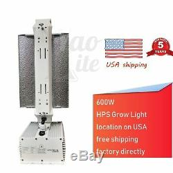 600W HPS MH Dimmable Grow Light System Kits Air Cooled Reflector Hood Set