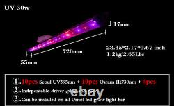 650w 8 bars foldable LED grow lighting agricultural equipment system for indoor