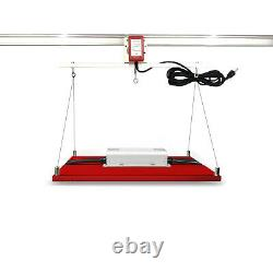 Adjustable Grow Light Mover Kit with 10.8ft Rail for Hydroponic Lighting System