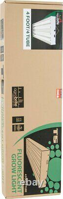 Agrobrite T5 216w 4' 4 Tube Fixture Fluorescent Grow Lights With Lamps