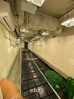 Automated growithcultivation trailers x2 outfitted with A/C, lights, water system