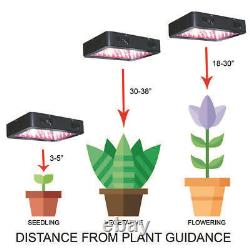 Complete Grow Tent Kit Set Up 600W Pro LED Growing Light Indoor Size Hydroponic