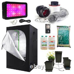 Complete Grow Tent Kit With Hydroponics AutoPot System 600W LED Grow Light