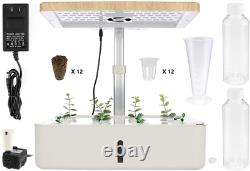 Dyna-Living Hydroponic Growing System with LED Grow Light for Indoor Flower for