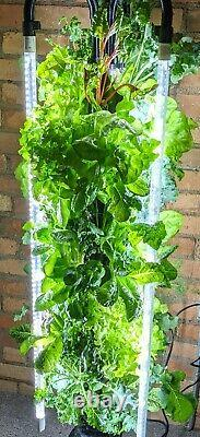 Hydro Designs Hydroponic Garden Tower With Lighting System. Grow up to 36 plants