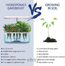 Hydroponic Growing System Indoor Garden Starter Kit with LED Grow Light Auto
