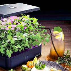 Hydroponic Growing System, Indoor Herb Garden with LED Grow Light, Smart Gard