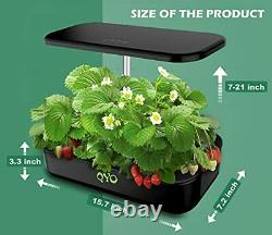 Hydroponics Growing System 12 Pods Indoor Herb Garden With Led Grow Light Pump