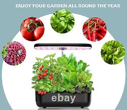 Hydroponics Growing System, 12 Pods Indoor Herb Garden with LED Grow Light, hydr