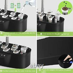 Hydroponics Growing System 12 Pods Starter Kit with LED Grow Light, Indoor Garde