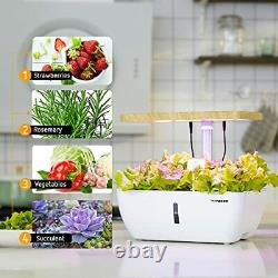 Hydroponics Growing System, Herb Garden with Spectrum LED Light, Circulating Wat