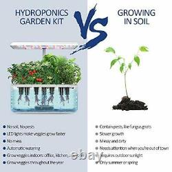 Hydroponics Growing System Indoor Garden Starter Kit with LED Grow Light