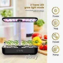 Hydroponics Growing System, Indoor Herb Garden Kit Complete with LED Light