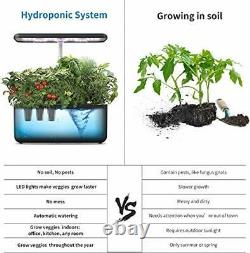 Hydroponics Growing System, Indoor Herb Garden Starter Kit with LED Grow Light