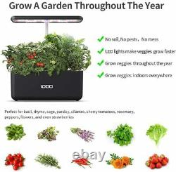 Hydroponics Growing System Indoor Herb Garden Starter Kit with LED Grow Light
