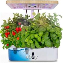 Hydroponics Growing System Moisten Land Plant Indoor Landscape With LED Grow Light