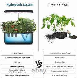 Hydroponics Growing System Smart Herb Garden Starter Kit with LED Grow Light