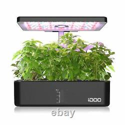 IDOO Hydroponic Growing System, Indoor Herb Garden with LED Grow Light, Smart