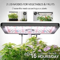 IDOO Indoor Herb Garden Kit, Hydroponics Growing System With LED Grow Light f