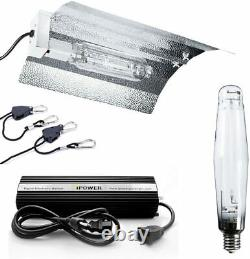 IPower 1000W HPS Digital Dimmable Grow Light System Kits Wing Reflector Hood Set