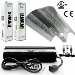 IPower 1000W HPS MH Grow Light System Kits Wing Reflector Hood Set New
