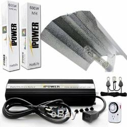 IPower 600 Watt HPS MH Digital Dimmable Grow Light System Kits Wing Reflector