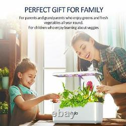 Indoor Herb Garden Hydroponics Growing System with LED Grow Light Smart