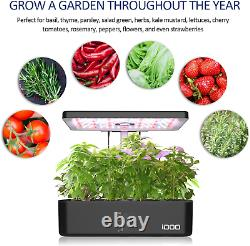 Indoor Herb Garden Kit Hydroponics Growing Smart System with LED Grow Light New