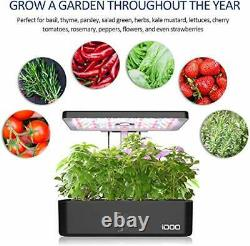 Indoor Herb Garden Kit, Hydroponics Growing System With LED Grow Light, 12
