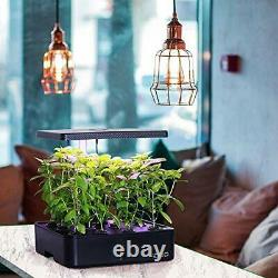 Indoor Herb Garden Kit, Hydroponics Growing System With LED Grow Light for