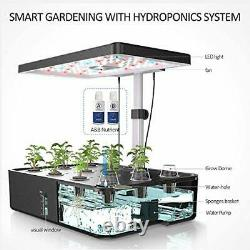 Indoor Herb Hydroponics Growing System Garden Kit, With LED Grow Light