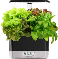 Indoor Hydroponic Growing System Home Herb Garden Starter Kit & LED Grow Light