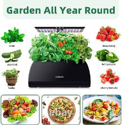 Indoor Hydroponics Growing System with an Adjustable LED Grow Light Pole 2021