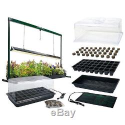 Indoor Seed Starter Plus with Jump Start Grow Light System Germinate Fast Clone