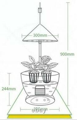 Indoor White Equipped Hydroponic Automatic Grow Planting System 55W Led Light