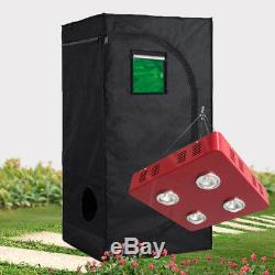 LED 800W Grow Light + 600D Grow Tent withObservation Window Hydroponic System Kit