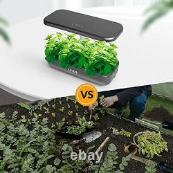 LYKO 12Pods Indoor Herb Garden Kit Hydroponics Growing System witht LED Grow Light
