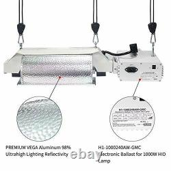 MELONFARM 1000W Double Ended Grow Light Fixture System, 240V Digital Dimmable