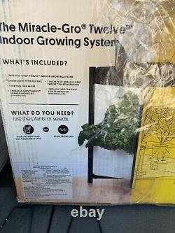 Miracle-Gro Twelve Indoor Growing System Garden With LED Hydroponic Grow Light