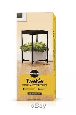 Miracle-Gro Twelve Indoor Growing System With LED Hydroponic Grow Light NEW