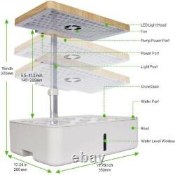 Moistenland Hydroponics Growing System Indoor Herb Garden With LED Grow Light US