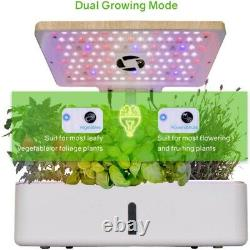 Moistenland Hydroponics Growing System Indoor Herb Garden With LED Grow Lights